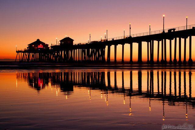 Huntington Beach, CA: Pink Summer, Beaches, Huntingtonbeach Pier, Favorite Places, Beautiful Places, Travel, Vacations, Huntington Beach, Magical Nights Evening Sunsets