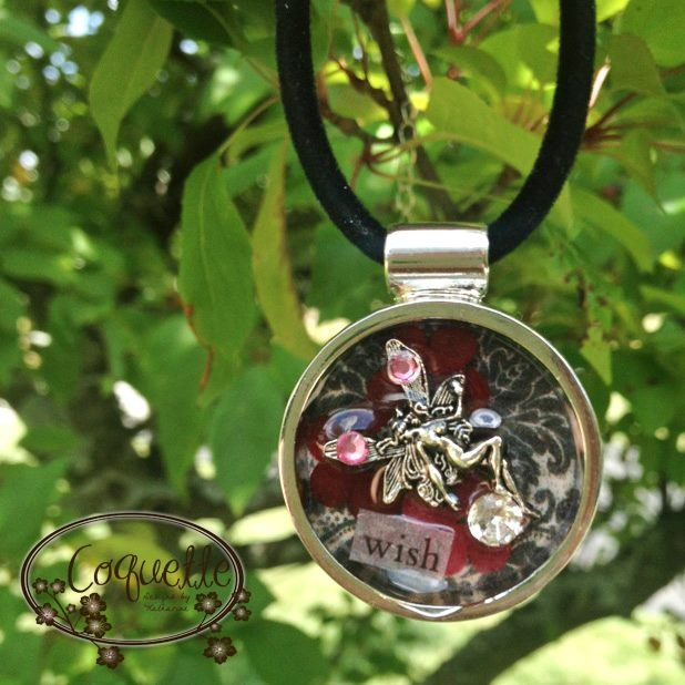Custom Fairy Resin Round Necklace