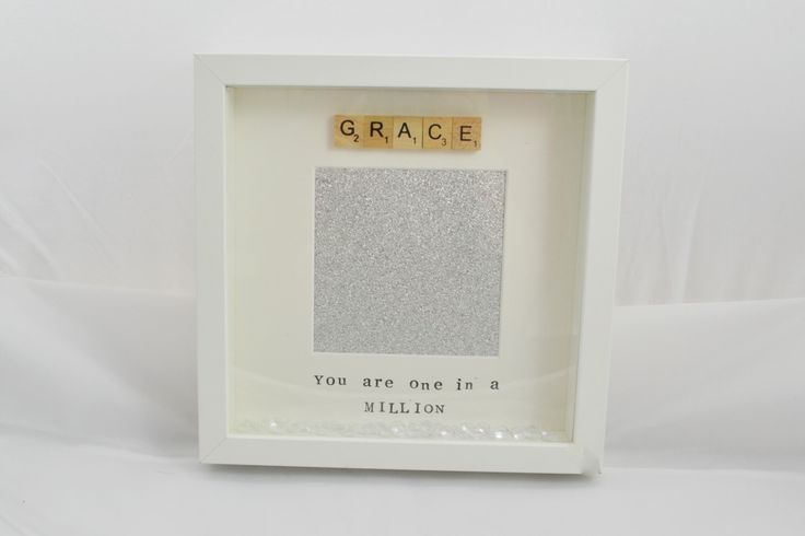 A personal favourite from my Etsy shop https://www.etsy.com/uk/listing/486556939/personalised-scrabble-photo-frame-you