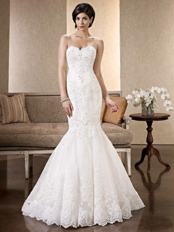 85 best images about Lace Mermaid Wedding Dresses on Pinterest ...