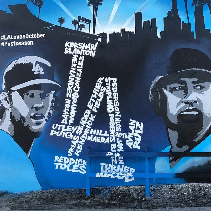 Sick Dodgers mural for the #postseason on Venice Blvd! #WeLoveLA