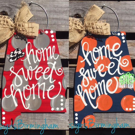 Auburn Alabama state Door Hanger by DLDesignsBirmingham on Etsy