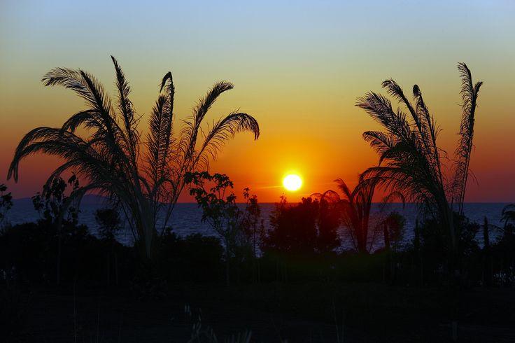 beautiful sunset - at the coast of Punta Skala