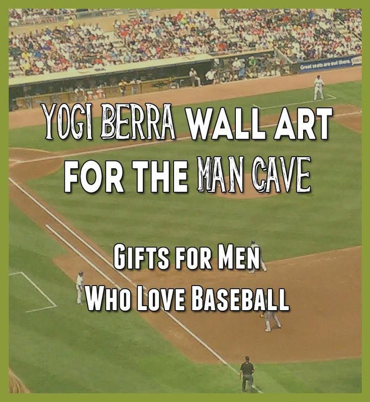 Yogi Berra Wall Art for The Man Cave- Gifts for Men Who Love Baseball