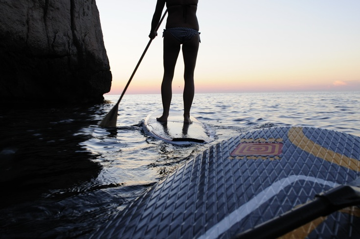 Stand up Paddling (#SUP) in #Mallorca. Photo by Mathias Soeder   Palmapix