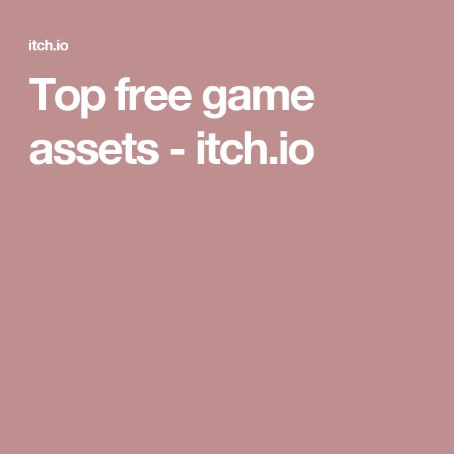 Top free game assets - itch.io