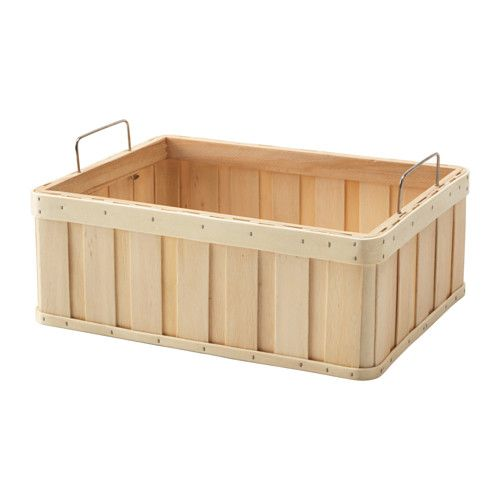 "IKEA - BRANKIS, Basket, 14 ¼x10 ¾x5 "", , Storing your belongings in baskets makes it easier to be organized and find what you're looking for.Easy to pull out and lift as the basket has handles."