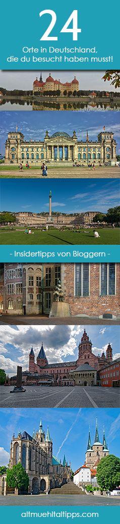 Einmal quer durch Deutschland mit unseren Top 24 Insider-Tipps für eure Deutschlandreise. Orte, die du besucht haben musst und Städte, die du dringend kennen solltest. Blogger stellen ihre Heimat vor, zeigen euch ihre Lieblingsplätze und verraten den ein oder anderen Geheimtipp für eure nächste Reise in der Bundesrepublik!