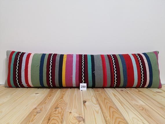 lumbar pillow long pillow carpet boho