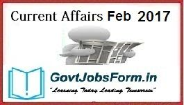 Current Affairs 1st February 2017, Daily GK Quiz, Today Important Questions With Answer, Today 1st Feb GK Question, Current GK 1st Feb