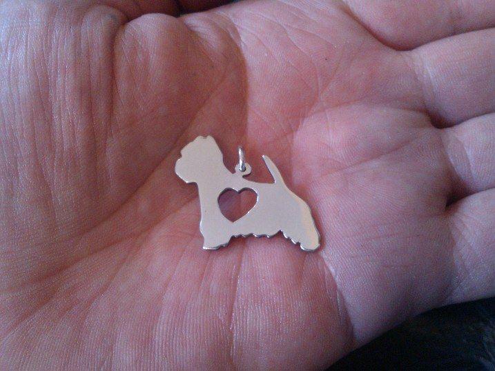 Newyork westie rescue logo pendant 30mm, £28.00