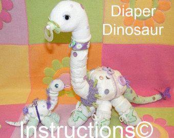 Instrucciones de alces de pañal. Aprender a por DiaperZooDesigns