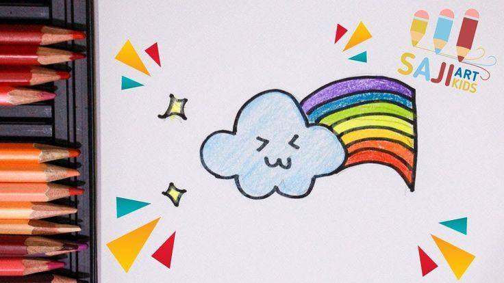 วาดร ปสายร งง ายๆ วาดร ประบายส ไม สวยๆ How To Draw A Rainbow And Cl