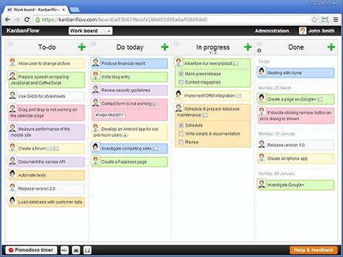 I love this website - I can print out my Kanban boards and keep track online as well.