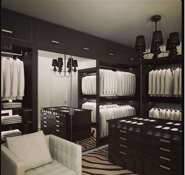 200 best dream wardrobes images on pinterest dressing - Mens walk in closet ...