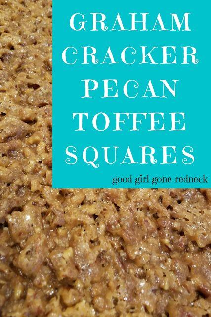 Graham Cracker Pecan Toffee Squares