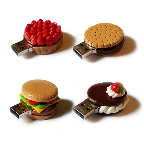Cool food flash drives