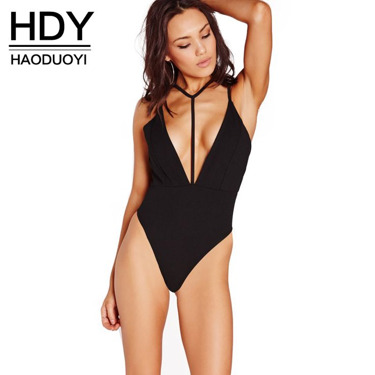 Find More Bodysuits Information about HDY Haoduoyi 2016 Women New Fashion Hollow Out Backless Sexy Deep V Neck Spaghetti Strap Romper Basic Bodysuit,High Quality fashion mouse,China fashion swinwear Suppliers, Cheap bodysuit shaper from NEW FASHIONS  on Aliexpress.com