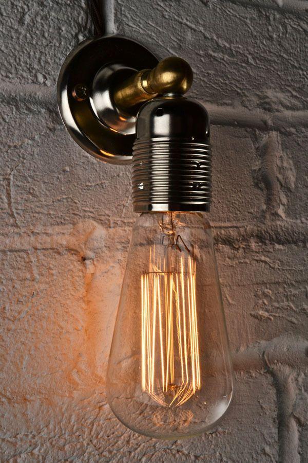Wall Lights With Edison Bulbs : LED - Edison Vintage Wall Light MK1 Vintage industrial, Vintage wall lights and Vintage ...