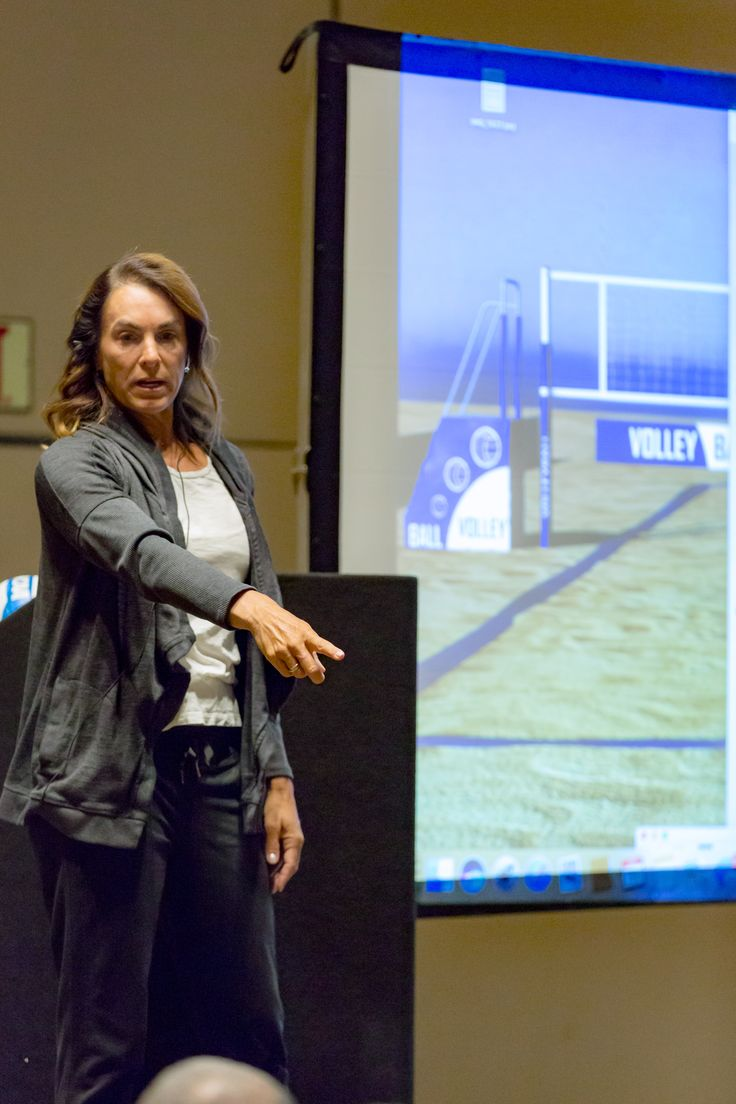 holly mcpeak at the art of coaching volleyball clinic in las vegas