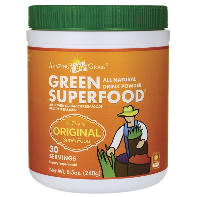 Amazing Grass Green SuperFood All Natural Drink Powder