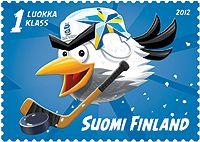 €0.85 2012 Jääkiekon MM-kisat -postimerkki