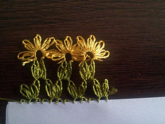 Turkish Needle Lace OYA PATTERN- daisies