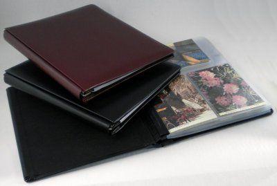"Postcard Album, ""Impresse"" Leather"