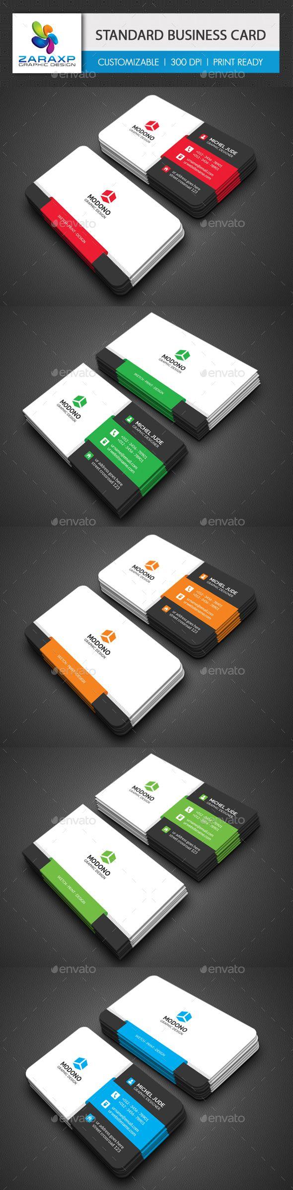 Standard Business Card Template PSD. Download here: http://graphicriver.net/item/standard-business-card/15220905?ref=ksioks