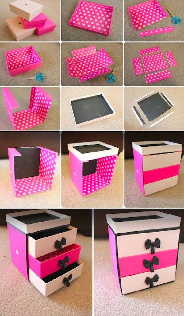 DIY Makeup Storage Ideas -shoe box