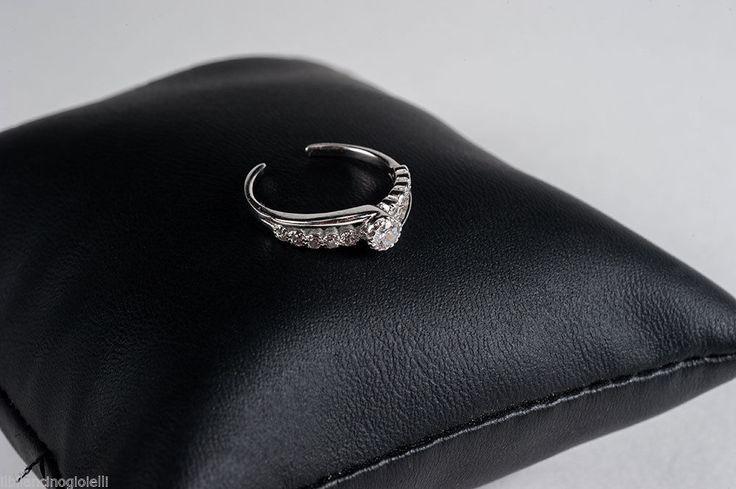 Anello Falange o Mignolo con Zirconi in argento rodiato 925 in Orologi e gioielli, Gioielli di lusso, Anelli | eBay