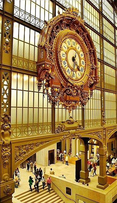 The Musée d'Orsay is housed in a grand railway station built in 1900 -- Paris
