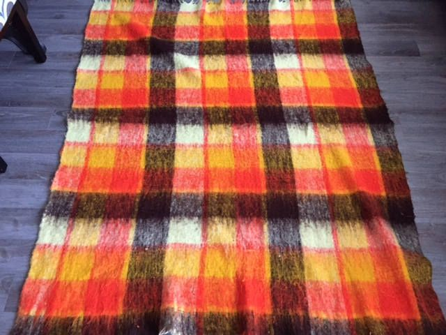 Hudson's Bay Company Vintage Baymart Acrylic Nylon Throw Blanket Made in Italy 64 x 51 by KMCollectible62 on Etsy