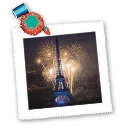 July 14 fireworks at the Eiffel Tower, Paris, France - EU09 DBN0562 - David Barnes - 10x10 Quilt Square by 3dRose, http://www.amazon.com/dp/B00AB2R5SW/ref=cm_sw_r_pi_dp_qpF3qb1MFCG46