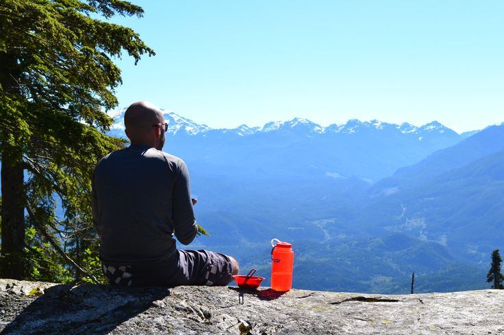 Lunch with a view. Echo Lake Provincial Park, British Columbia. Learn more about this hike at http://damgoodtrips.com