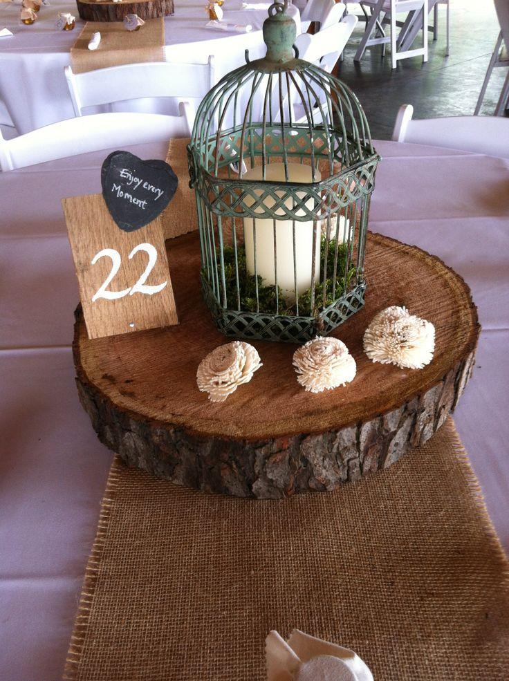 Best ideas about wood slab centerpiece on pinterest