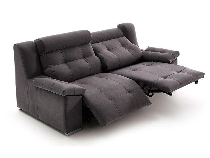 Sofá de 2 y 3 plazas con sistema relax eléctrico motorizado, modelo Saxo de Acomodel en Sofassinfin.es