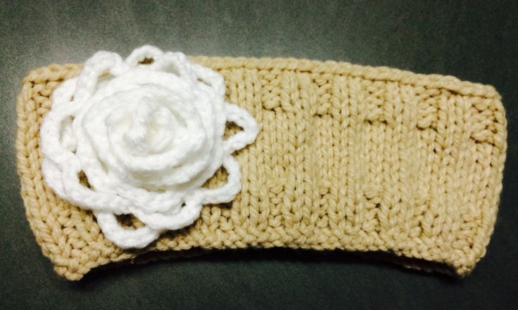 Tan with Large White Rose Avail any size, $11