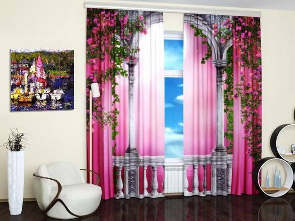 contemporary window coverings with digital art prints