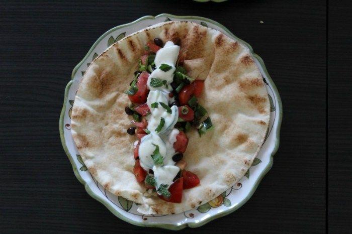 gevuld libanees platbrood