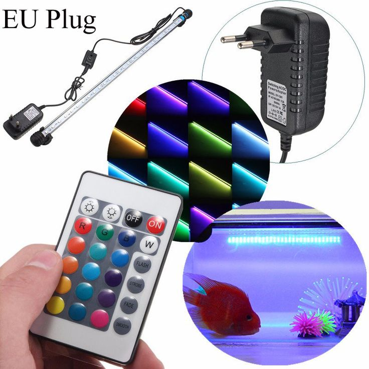 Aquarium Waterproof LED Light Bar Fish Tank Submersible Down Light Lamp AC100-240V 6.5W 57CM SMD5050 at Banggood