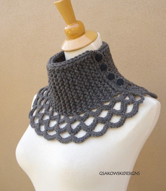 Virginia- Wool Scarflette-Grey