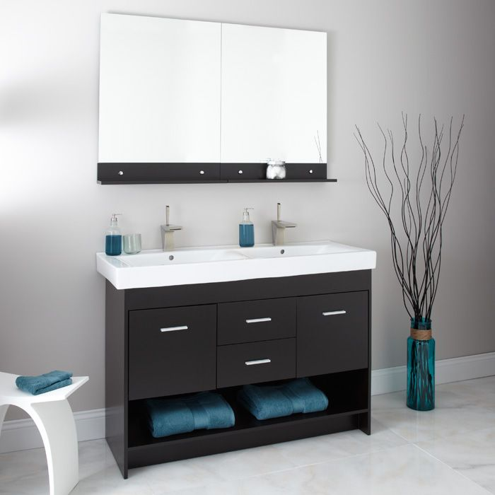 Picture Gallery Website Bathroom Bathroom Vanities Modern and Contemporary Vanities Contemporary Vanity Cabinets Mickelson Double Sink Vanity Cabinet with Mirror