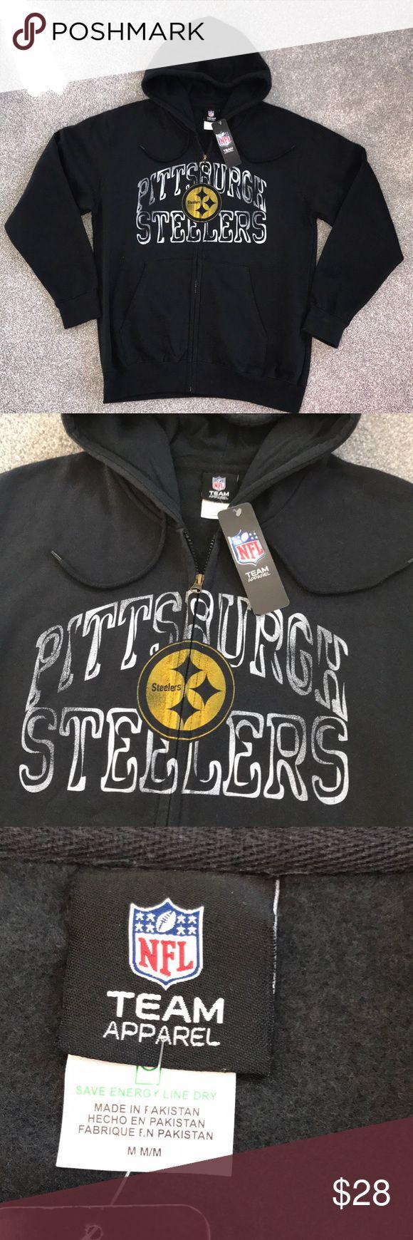 Pittsburg Steelers Hoodie NWT Pittsburg Steelers full zip hoodie. NEW w Tags NFL Shirts Sweatshirts & Hoodies