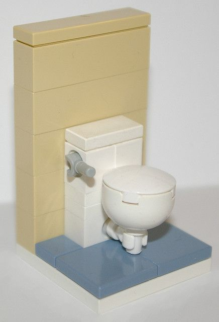 Lego bathroom toilet