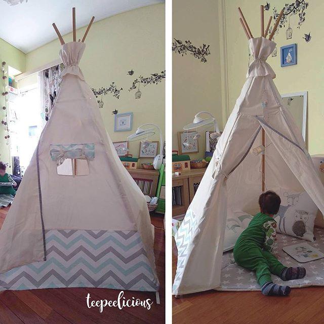 Magic moments in his #teepeelicious #teepee #tipi #happykids #playmat #flags #rugs #babyroomdecor #montessoriathome #montessori #montessoritoddler #barnrumsinspo #kidsgoods