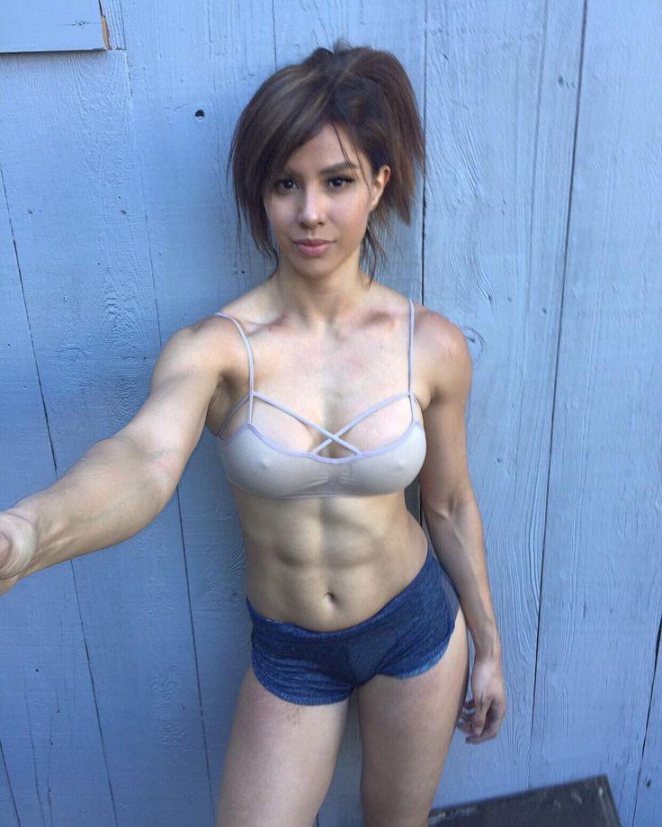 Pin By Terri Ann Kisaberth On Exercise: Kayli Ann Phillips Crossfit Selfie Abs Blue Shorts