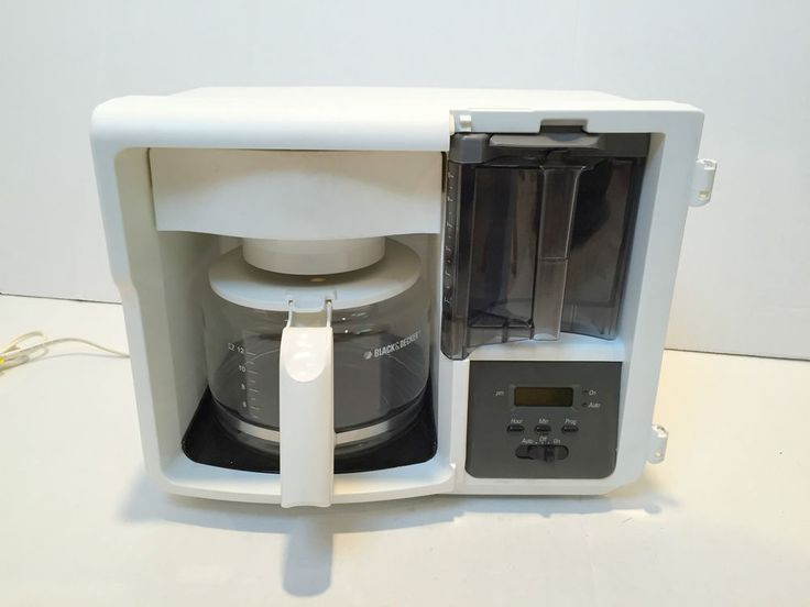 Black Decker Coffee Maker Space Saver Brewing 12 Cup Glass Carafe Office RV Dorm