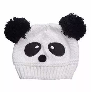 touca gorro panda bebe criança gorro crochet urso 1 a 5 anos