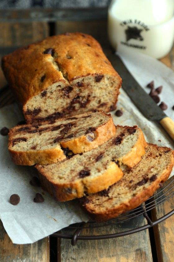 {Sour Cream Chocolate Chip Banana Bread} - www.countrycleaver.com  Extra chocolatey, super tender, and your mama will be asking YOU for the recipe!!